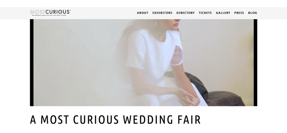issy two-piece featured on a most curious wedding fair teaser video