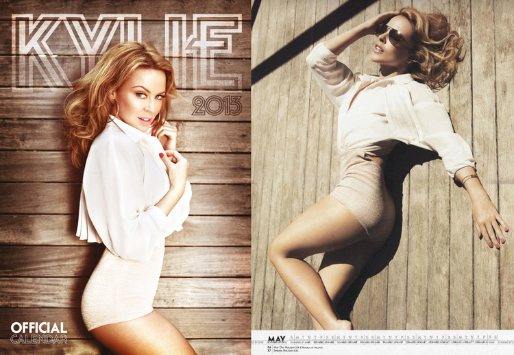 Kylie wears vj's  Annie ray  for her official calendar 2013