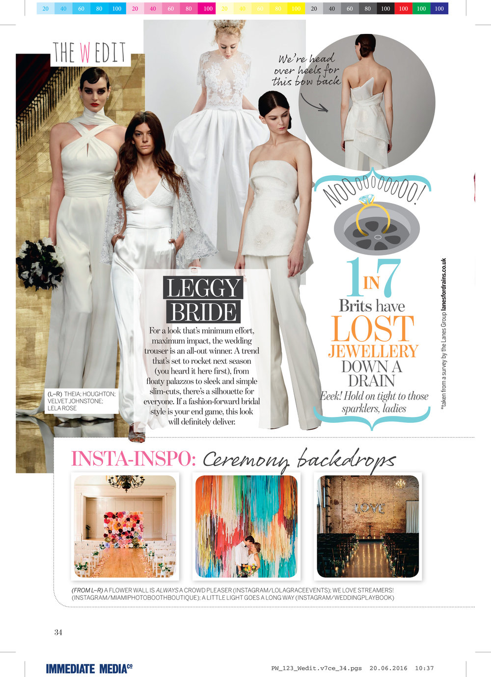 issy mae in perfect wedding magazine