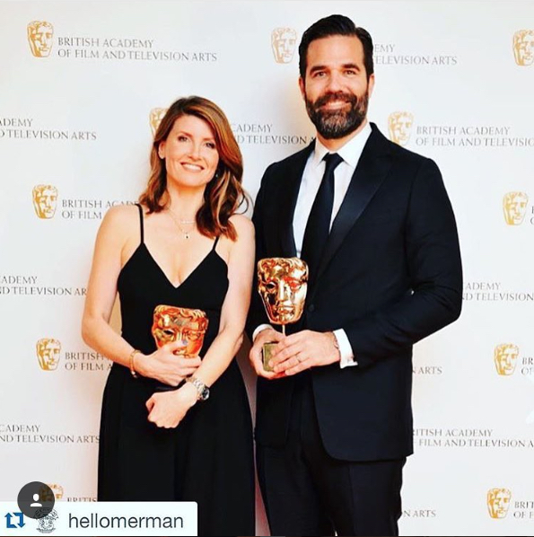 sharon horgan in the love jumpsuit at the baftas <3