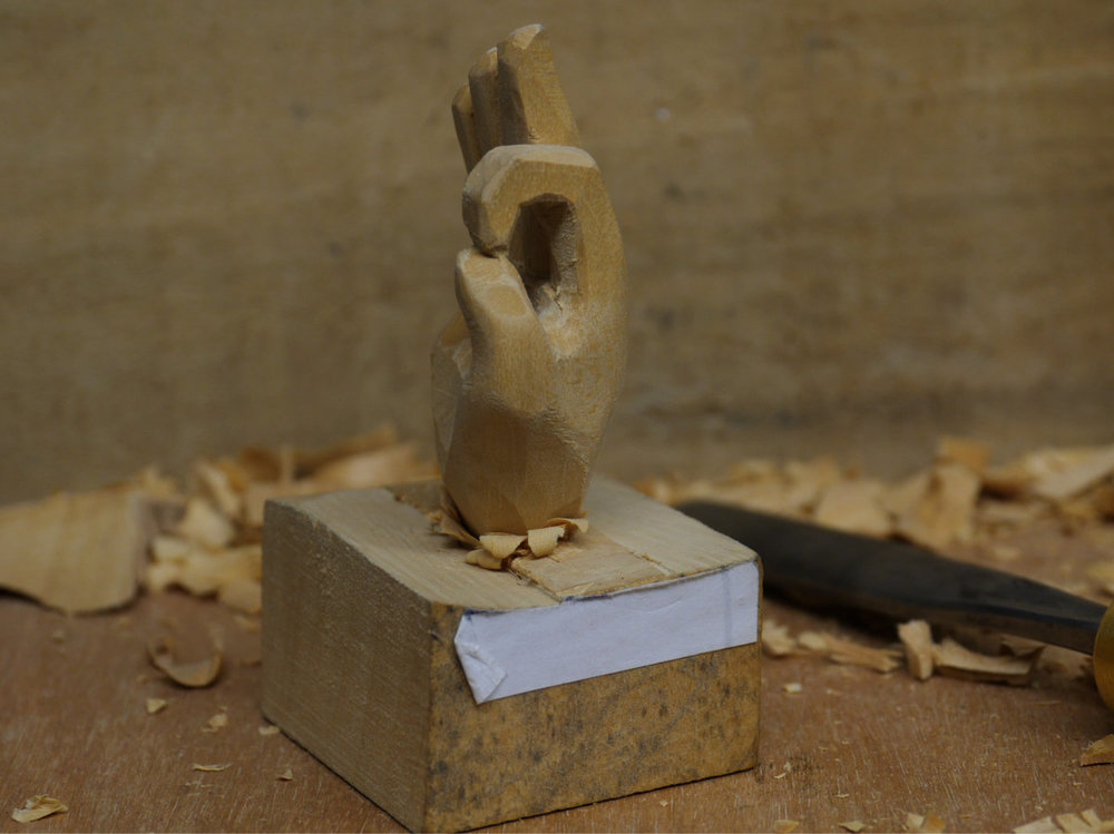 Carved Limewood hand in progress