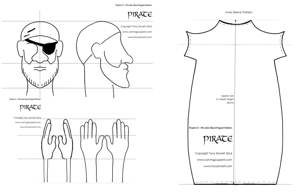 Pirate hand Puppet Plans