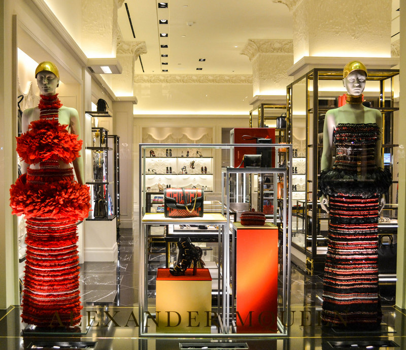 From the  Alexander McQueen  flagship store: 747 Madison Avenue