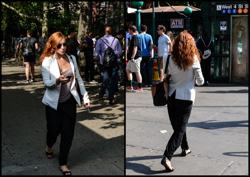 Blazer, Sandals, and Shades on 6th Avenue