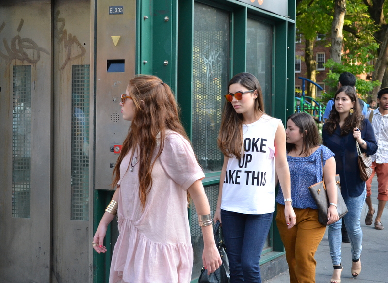"The wildly popular ""I Woke Up Like This"" tee makes an appearance"