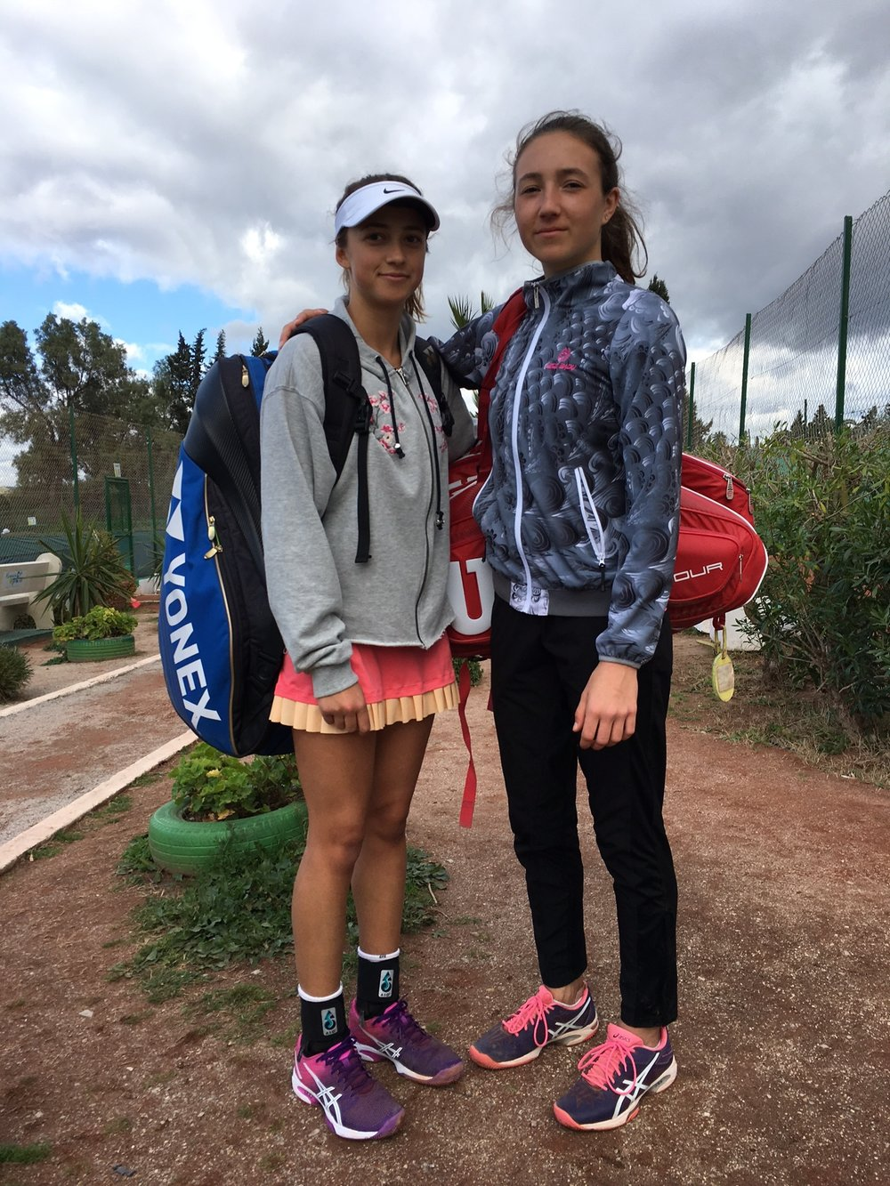 my doubles partner Oana Gavrila