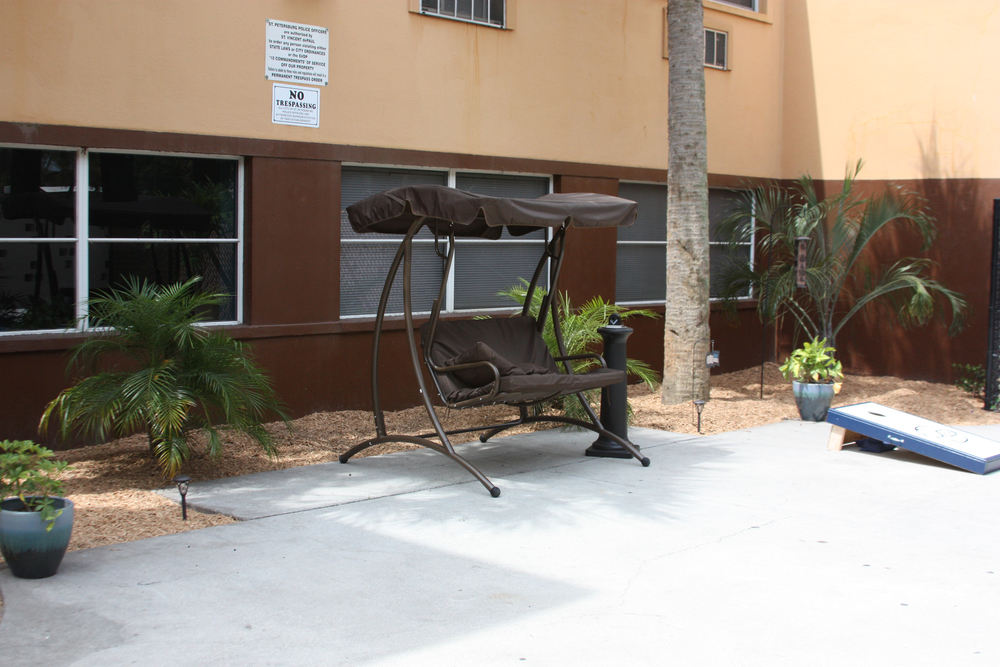 Center of Hope outdoor lounge area