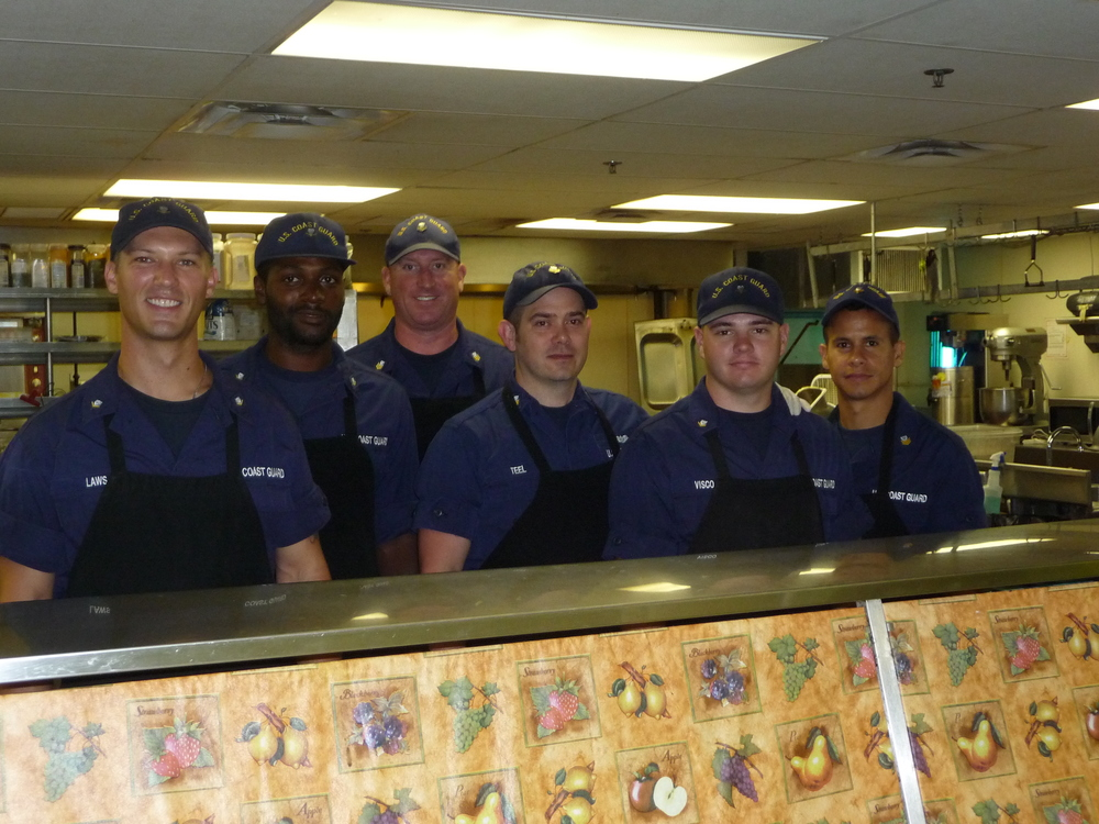 Our wonderful volunteers from the US Coast Guard Stationed in St. Petersburg, FL.