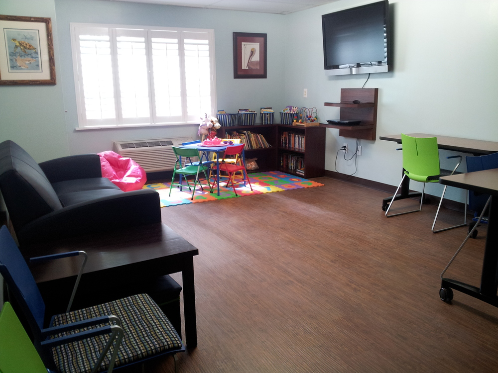 Leadership St. Pete renovated our family room, so our homeless children have a safe place to play.
