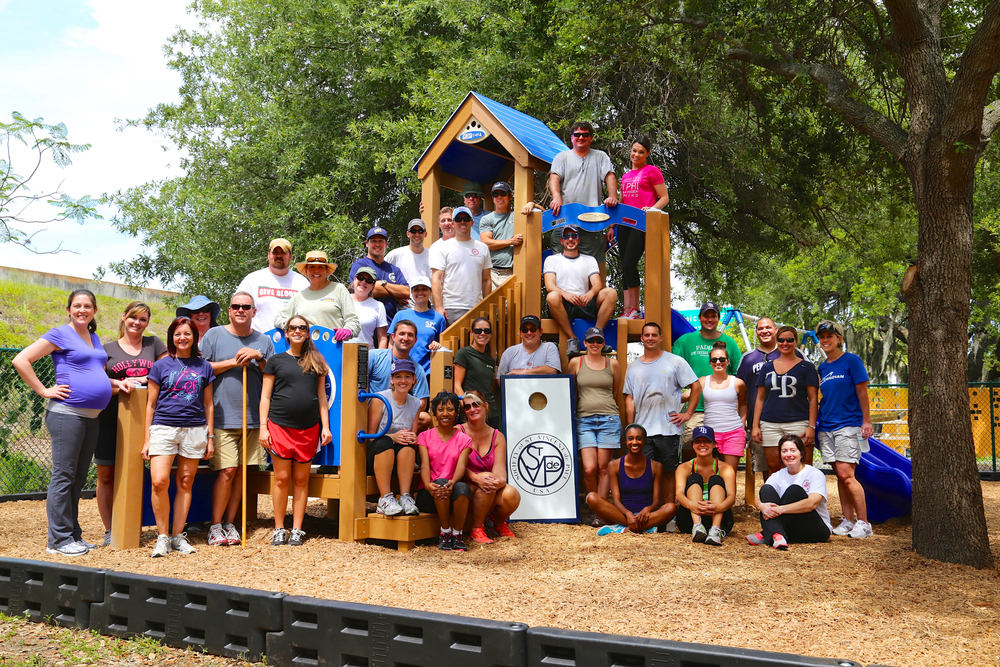 Volunteers from Leadership St. Pete, Class of 2014. Thank you for our new playground!