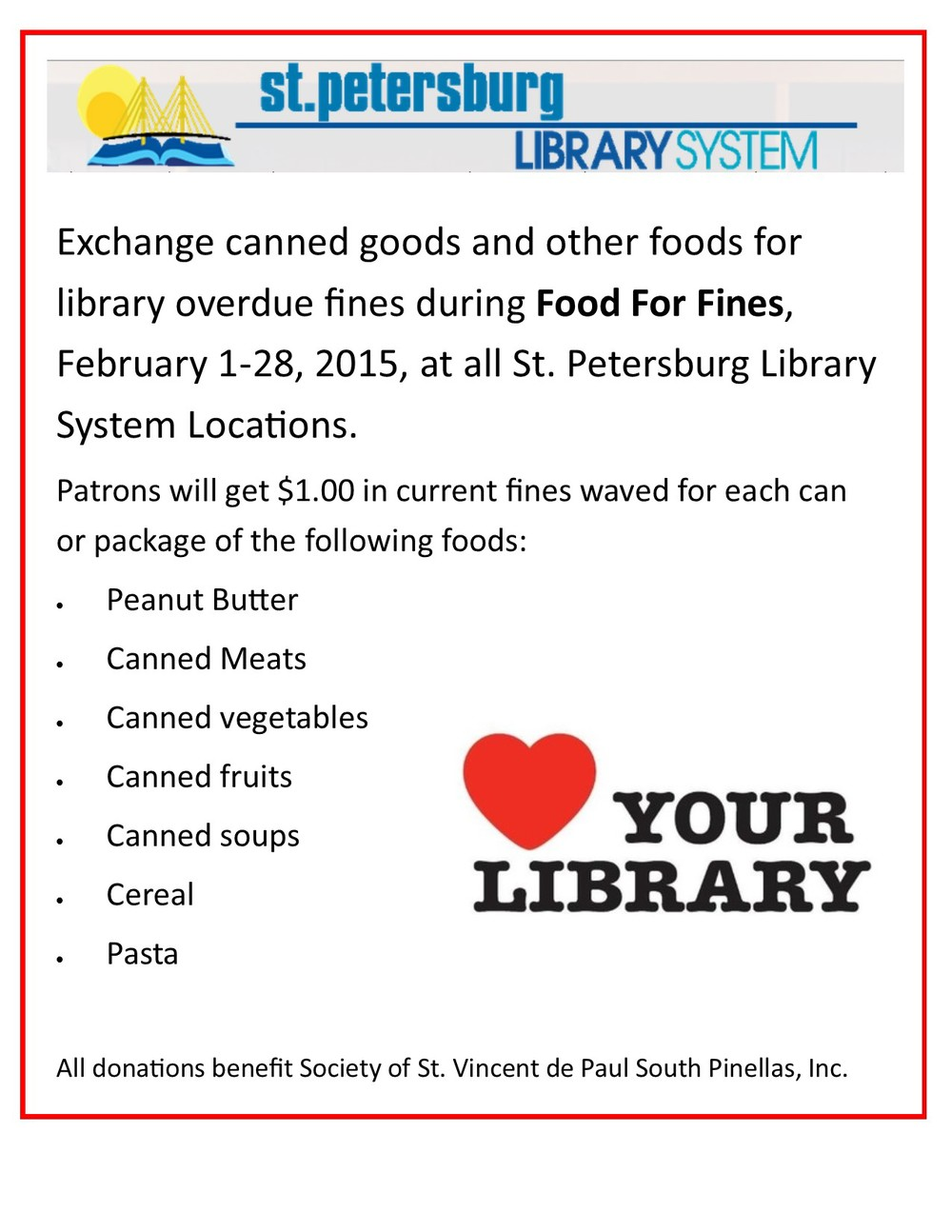 #SvdP #HopefortheHomeless #Library