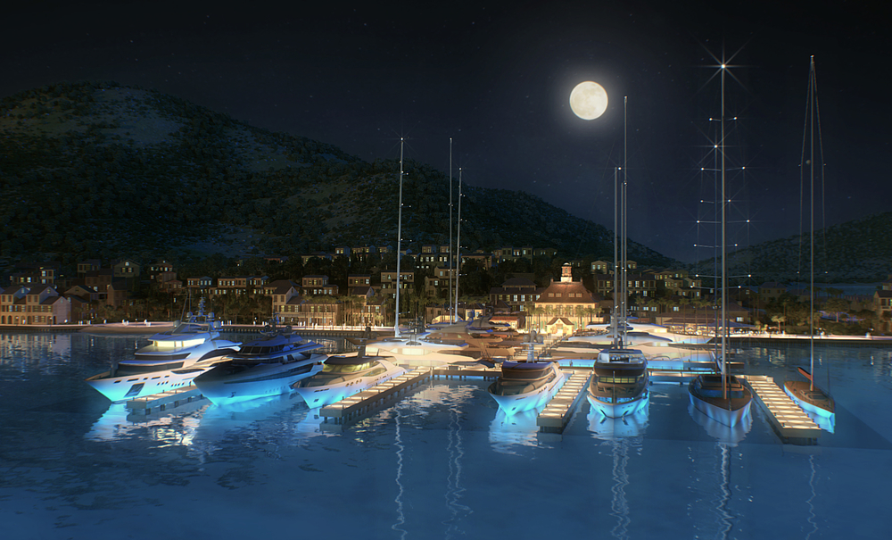 Rendering of The Marina at Christophe Harbour (Photo Courtesy of Christophe Harbour)
