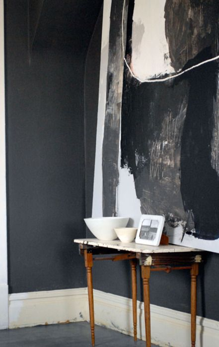 Beautifully dark gu r n l f Grey sponge painted walls
