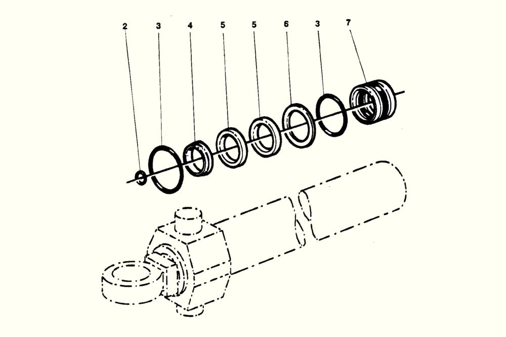 Steering Cylinder Repair Kit Häggo NR: 253 6222-601 Price: 500 SEK