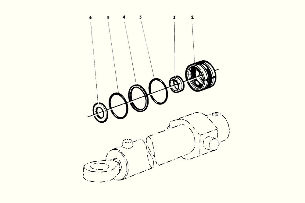 Tilt cylinder Repair kit Häggo nr: 353 6263-601 Price: 530 SEK