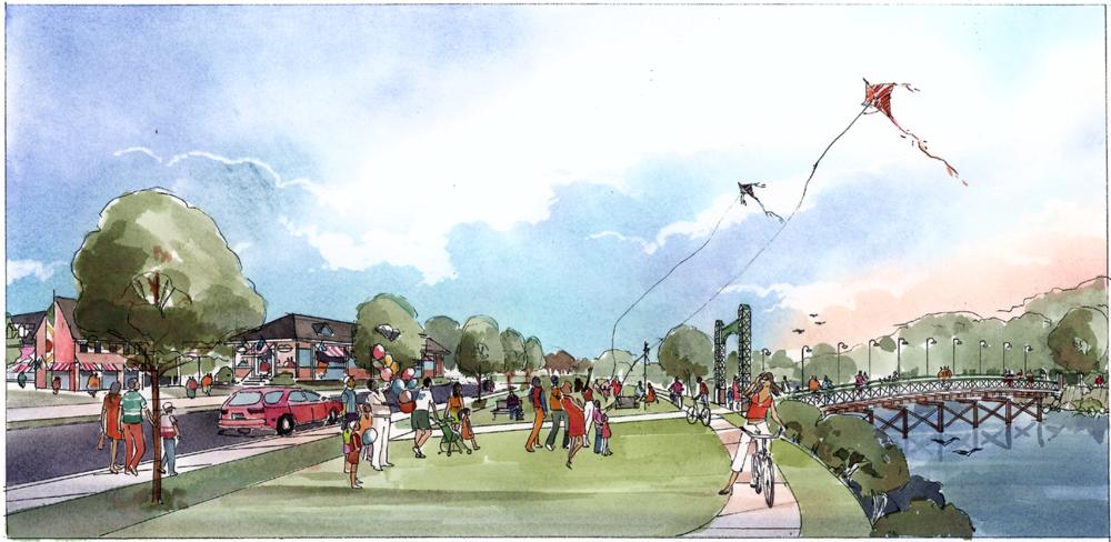 Bridgeton Master Plan - Urban Rendering