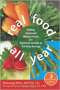 If you're interested in seasonal cooking and eating, I recommend Real Food All Year. It combines ancient Chinese practices with today's knowledge and some simple recipes.                         Real Food All Year: Eating Seasonal Whole Foods for Optimal Health and All-Day Energy