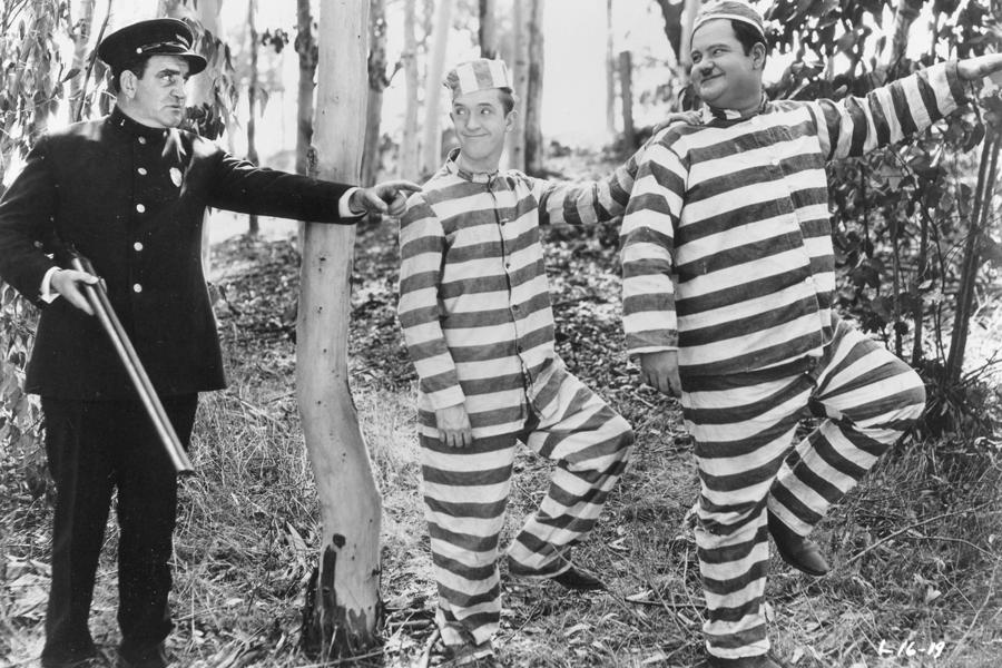 Laurel & Hardy, accompagné par  Gabriel Thibaudeau .