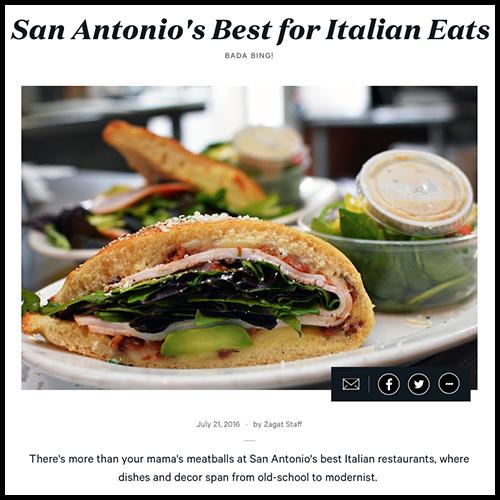 Zagat Names Aldo's Among San Antonio's Best Italian Cuisine