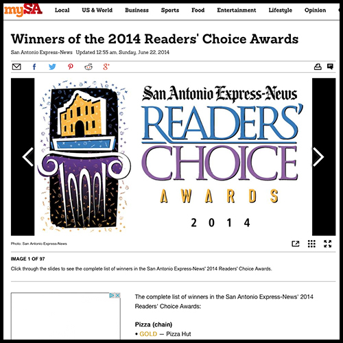San Antonio Express News: Aldo's Named 2014 Critics' Choice for Longtime Favorite Restaurant