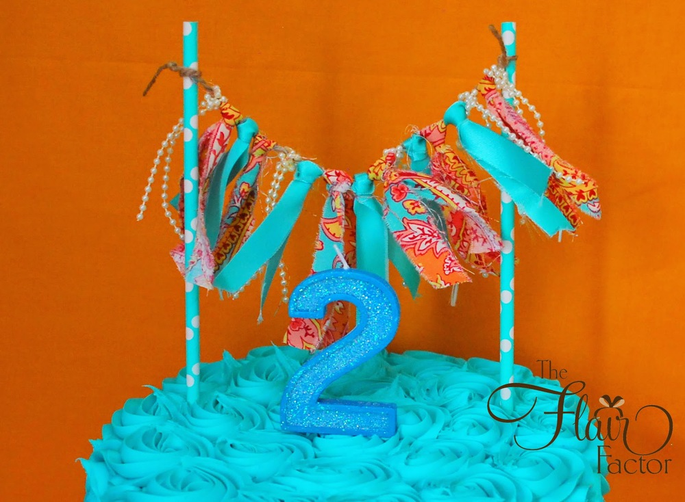 One of three ribbon cakes
