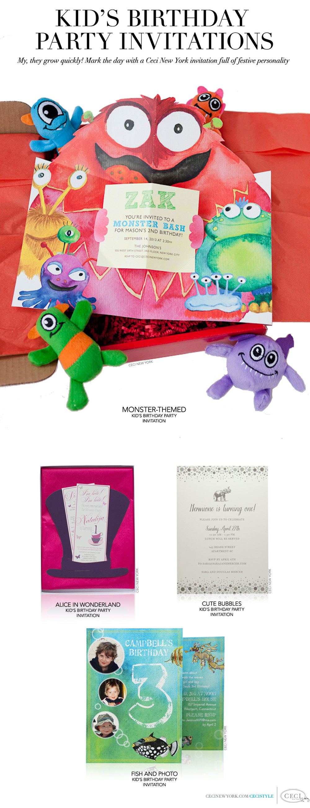Over The Top Kids Party Invitations — Petite Seats