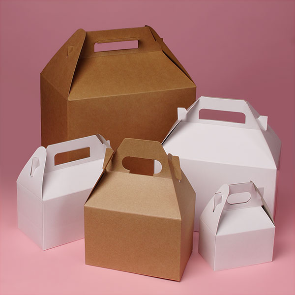 "I ordered a large gable box in kraft 9"" x 6"" x 6"" - $6.29 per 10 + $3.00 + Shipping from Paper Mart"