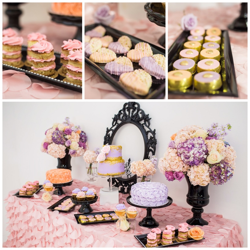 Mini tiered naked cakes, ChocoOreos, Rice Krispies by Perfectly Styled + Sweet