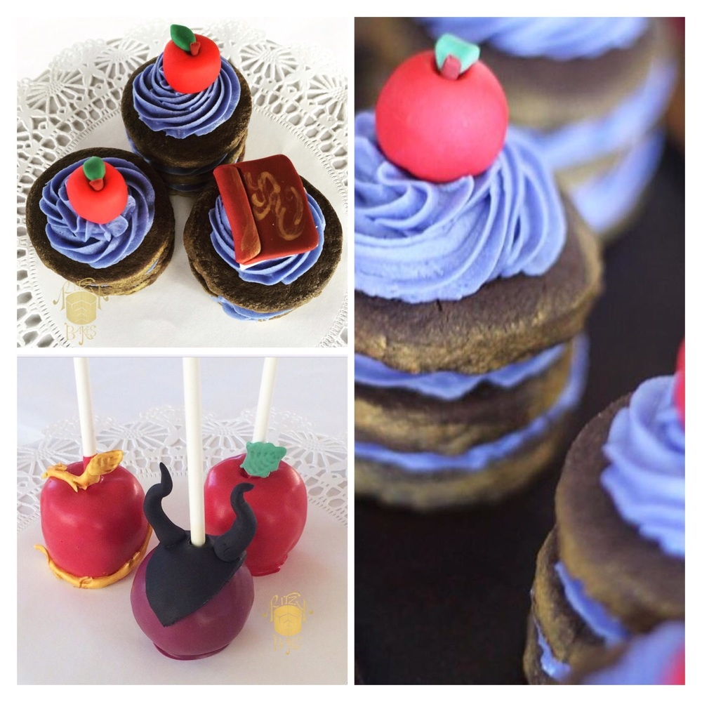 The stylish candied apples and cookie tiers were the perfect addition to the elaborate dessert display