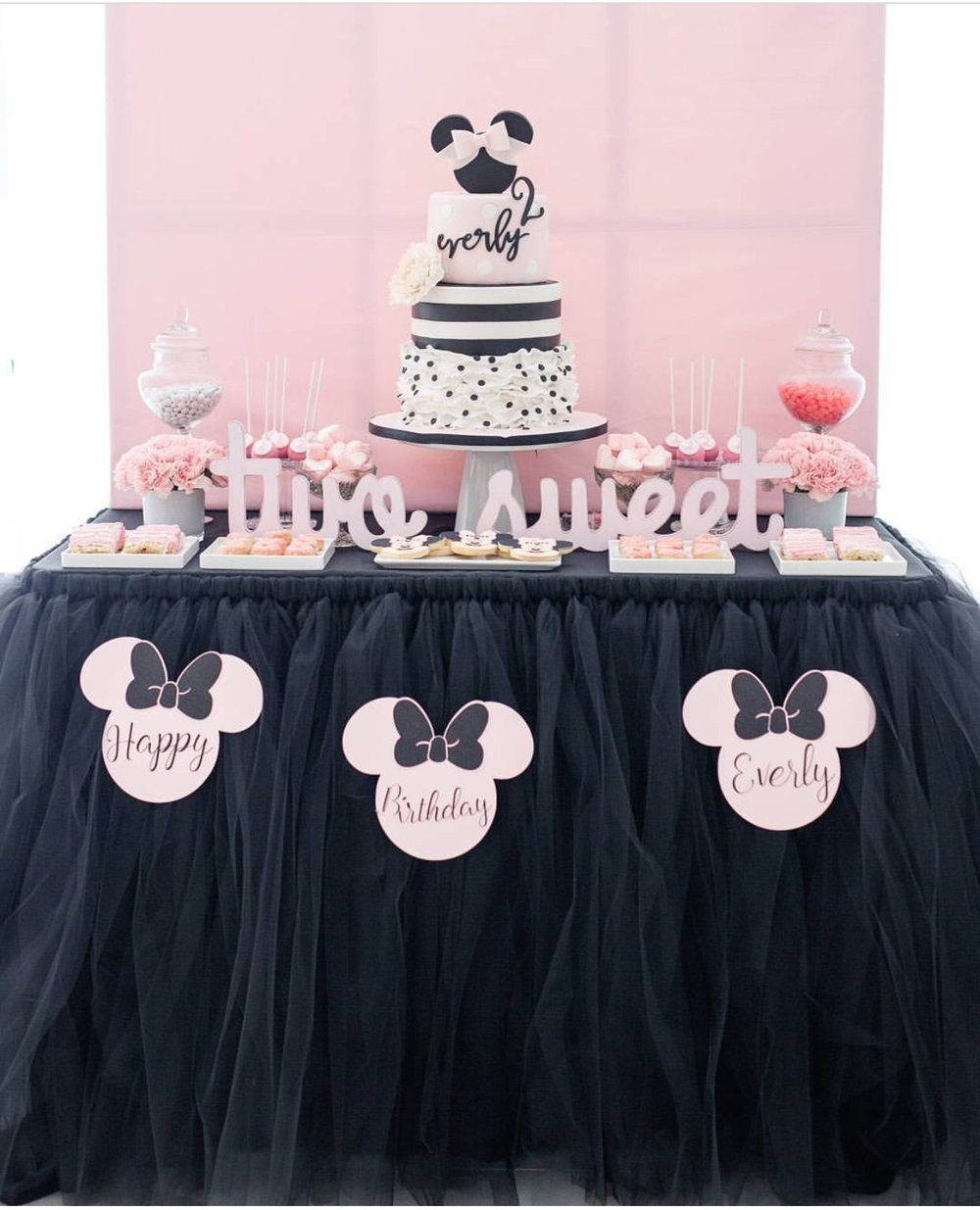 LuLu Cake Boutique created this striped, polka  dot confectionery dream