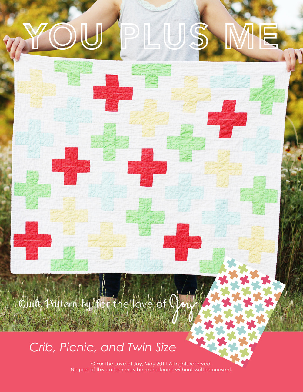 You Plus Me Plus Quilt Pattern Anna Joy French Designs