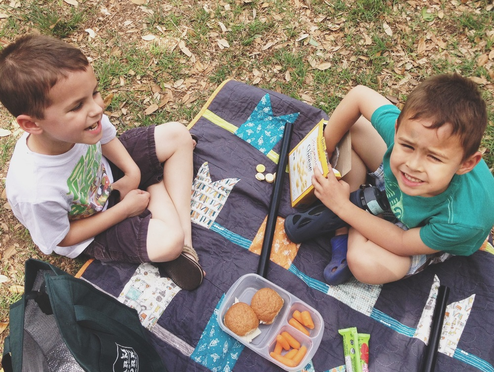 Picnic with his best buddy