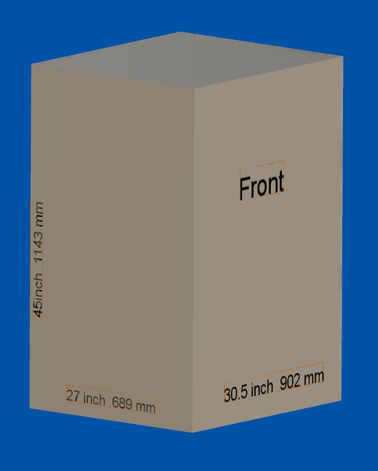 This is representation the space necessary for the printer. This is the size of the printer when it's moving to its maximum and all axises. In other words this is a size you need on your table or to operate properly