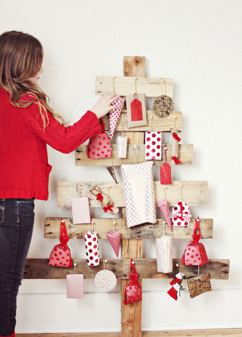 ADVENT CALENDER TREE idea by a beautiful mess