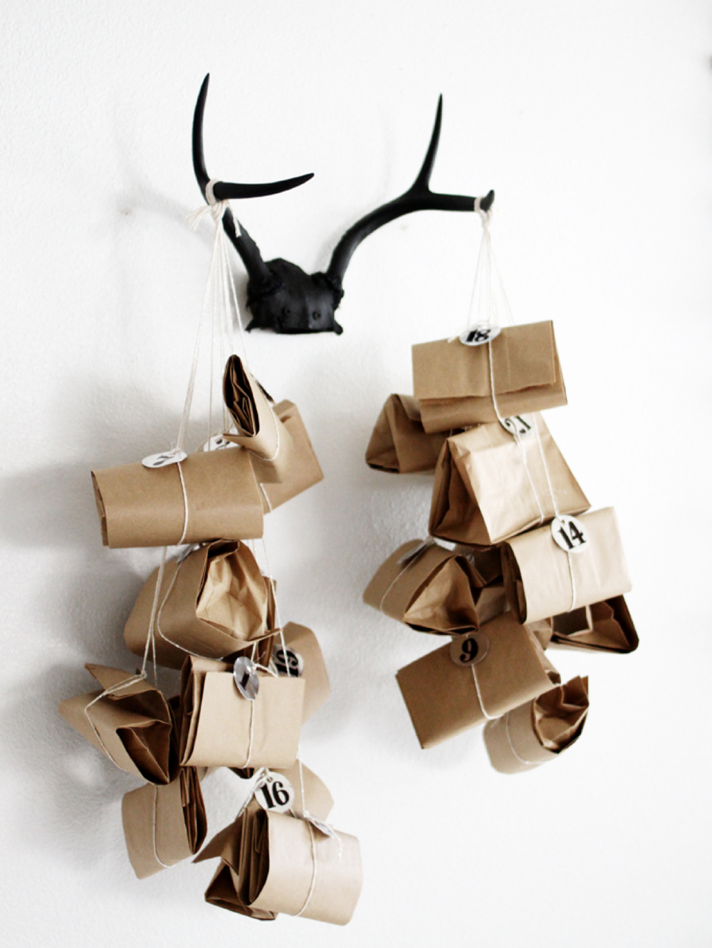 TIED UP ADVENT CALENDER idea by a merry mishap