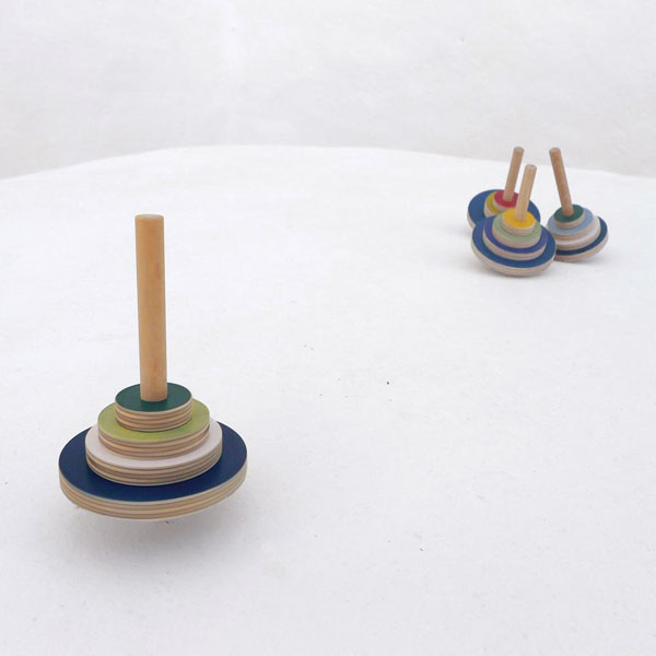 Spinning tops by The Wandering Workshop