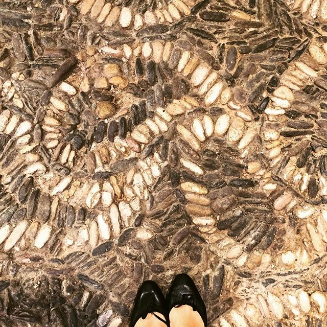 Loving the little villages in the Rioja region of Spain and a favorite today was this old floor #ihavethisthingwithfloors