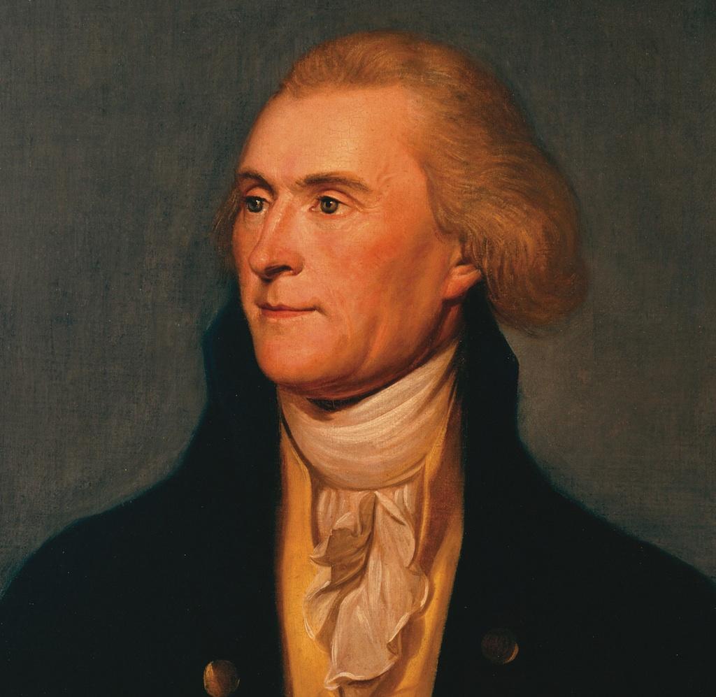 Thomas Jefferson, State Room Portrait.