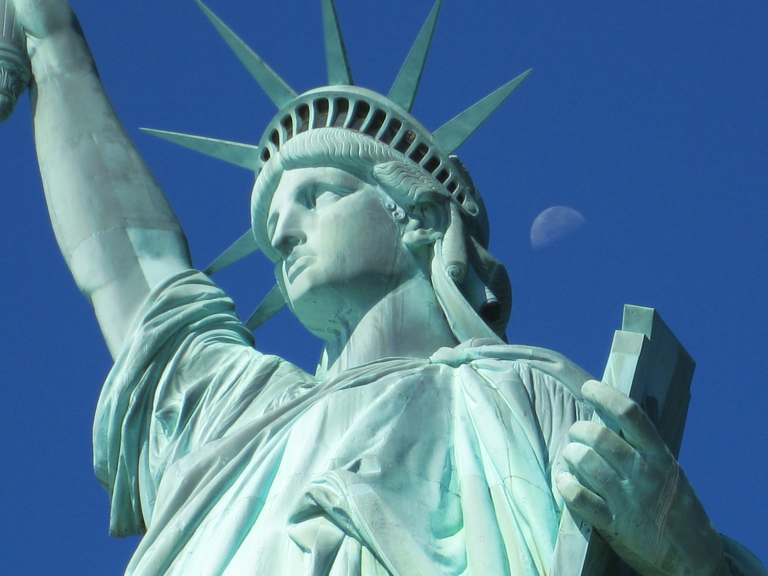 The Statue of Liberty represents the Spirit of Freedom.