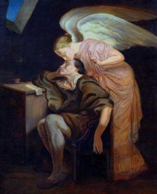 Kiss of the Muse, (1859-60) by Paul Cezanne
