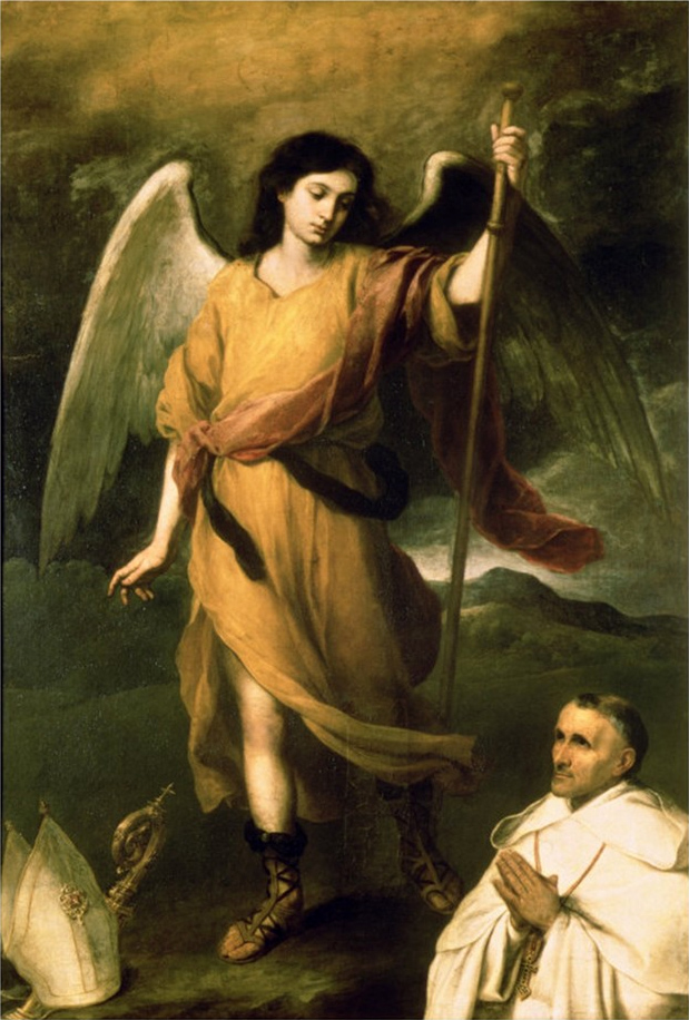 Bartolomé Esteban Murillo's painting of Saint Raphael the Archangel.