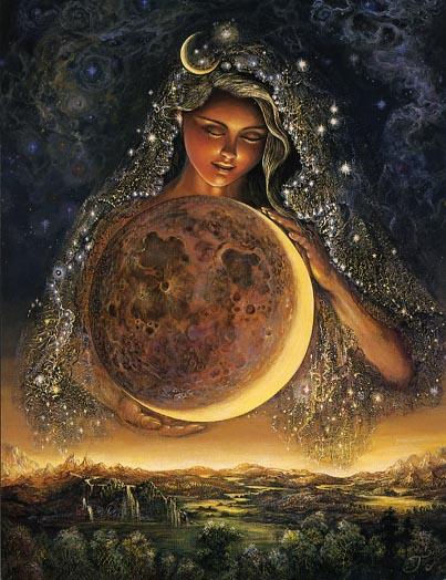 "Artwork: ""Moon Goddess"" by Josephine Wall"