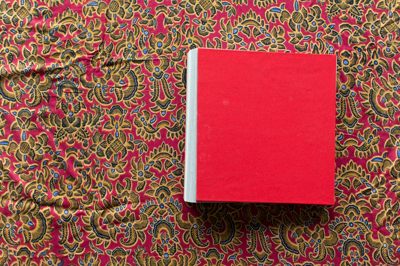 Ron's book is a hand-bound concertina bind containing 35 pages.