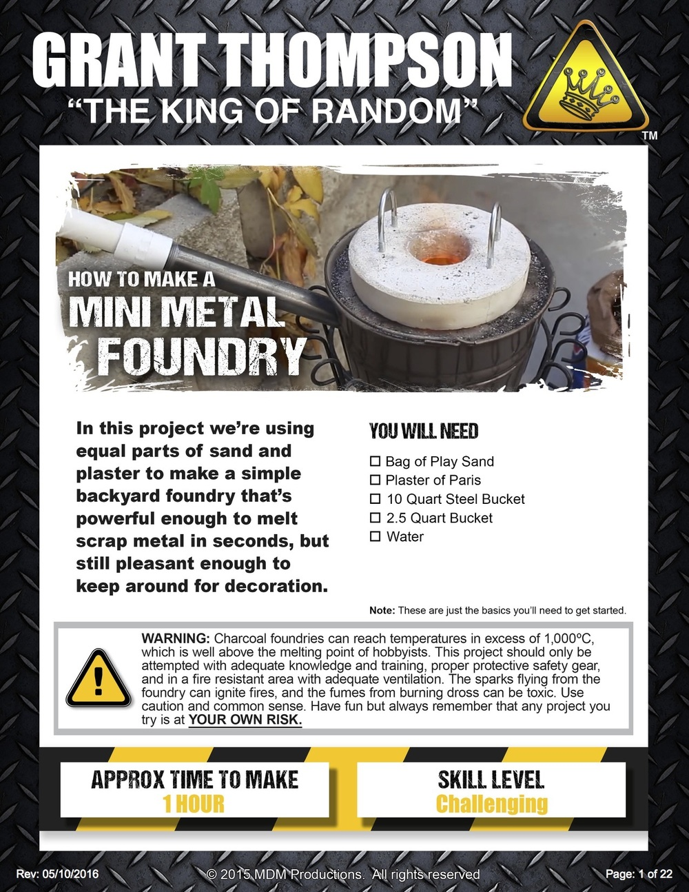 how to make a mini metal foundry u2014 the king of random