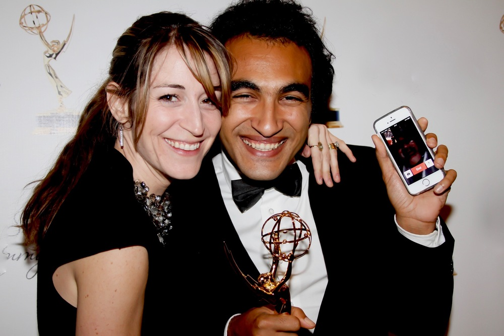 2013 - Ramy & Sharra Romany at the Emmys for Ramy's first Win.