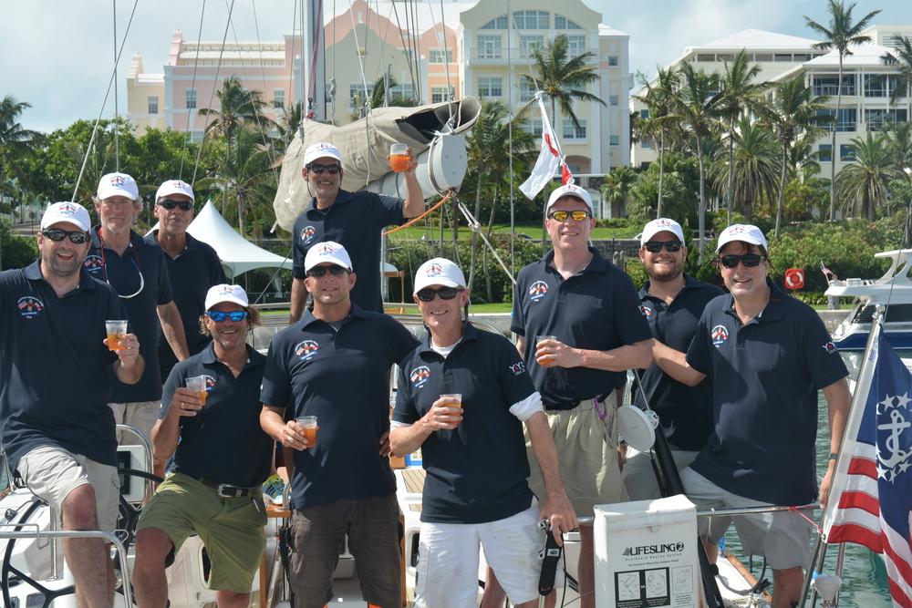 The crew of YYZ, from left to right: Derek Joynt, Brian O'Farrell, Warren Willett, Steve Wolpo, Joe Spinella, Justin Bonar, Dan Galyon, Mike Raynor, Drew Lambert, Mike Galaty