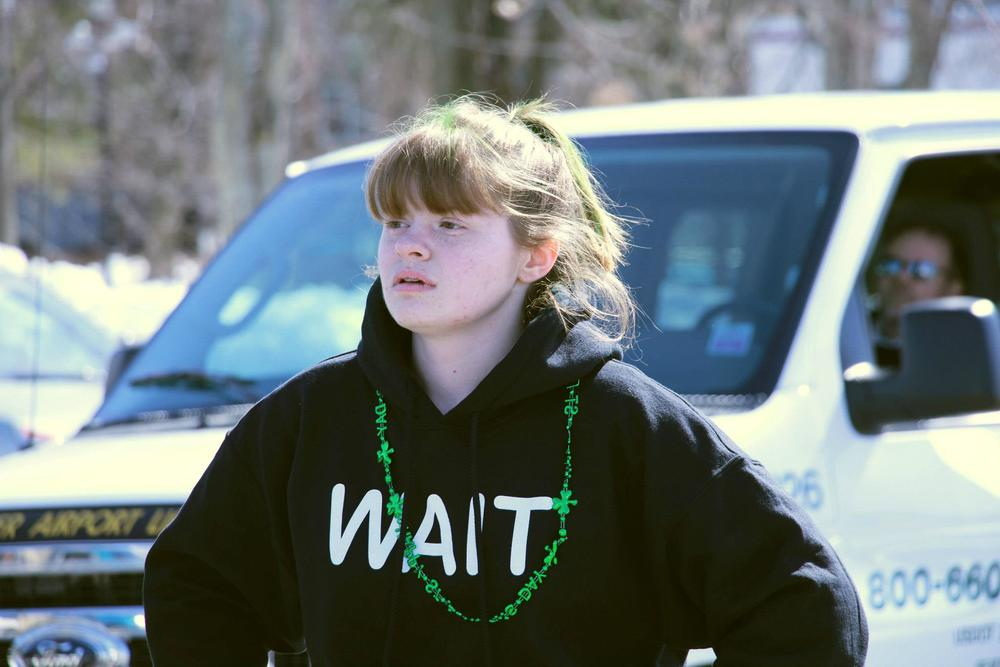 Molly at Worcester County St. Patrick's Day Parade in 2013.