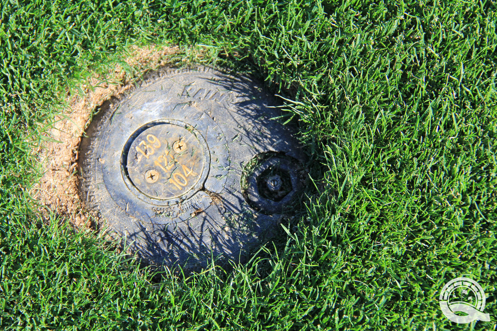 Rams Hill Golf Club Hole 4 Yardage Marker