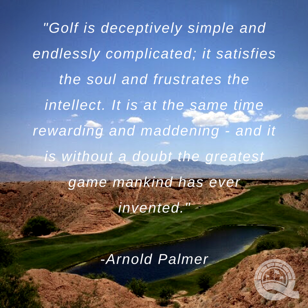 Arnold Palmer Quotes Arnold Palmer  The Greatest Asset In Golf  The Quest Fore Scratch
