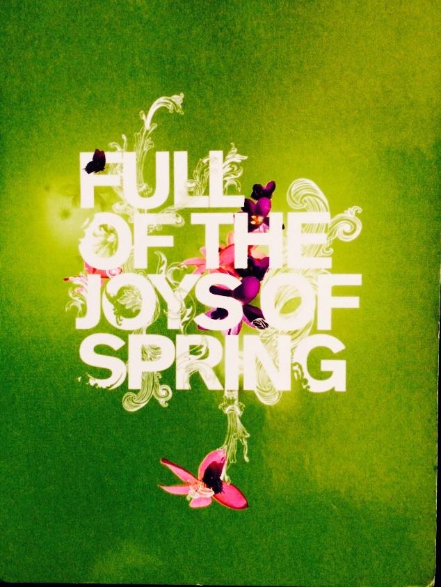 'Spring has sprung